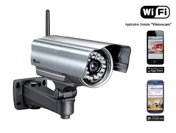 Atlantic micro cam ras de surveillance for Camera ip exterieur wifi